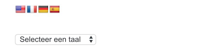 Taalschakelaar WordPress