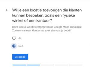 Locatie toevoegen Google Mijn Bedrijf